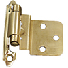 Brass Self-Close Flat Offset Hinges