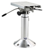 Adjustable Height Power Pedestal, Satin Anodized Post