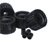 Black Rubber Ribbed Wobble Roller Kit