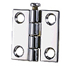Chrome-Plated Brass Butt Hinge - 2-1/2