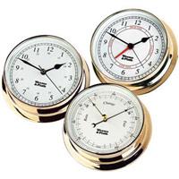 Brass Clocks And Barometer