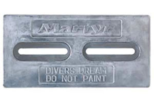 Diver's dream two-slot hull anode