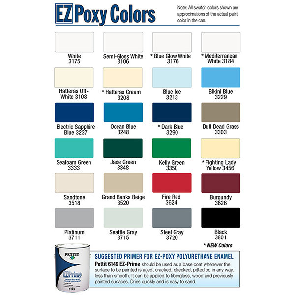West Marine Paint Color Chart