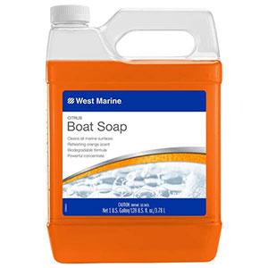 West Marine citrus boat soap