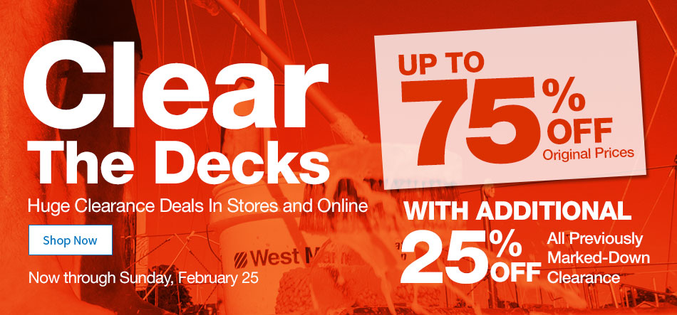 Shop our outlet. Up to 75% off through February 25.
