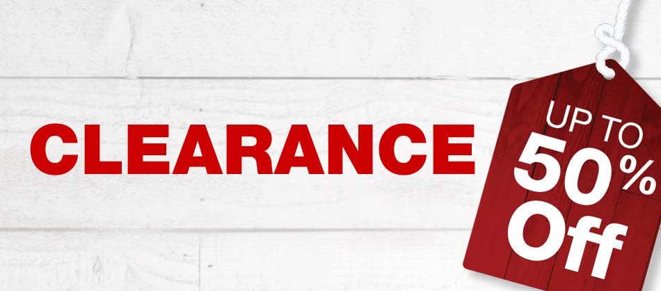 Clearance. Up to 50% OFF.