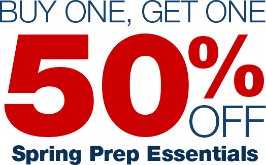 Buy One, Get One 50% Off. Spring Prep Essentials. Shop now