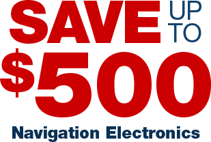 Save up to $500 on Navigation Electronics