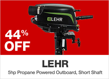 Lehr 5hp Propane Powered Outboard, Short Shaft