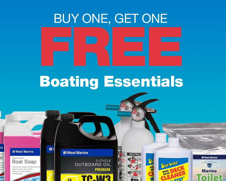 Buy one, get one free on boating essentials