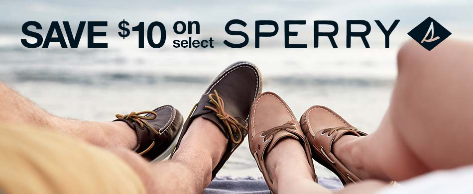 Save $10 on select Sperry