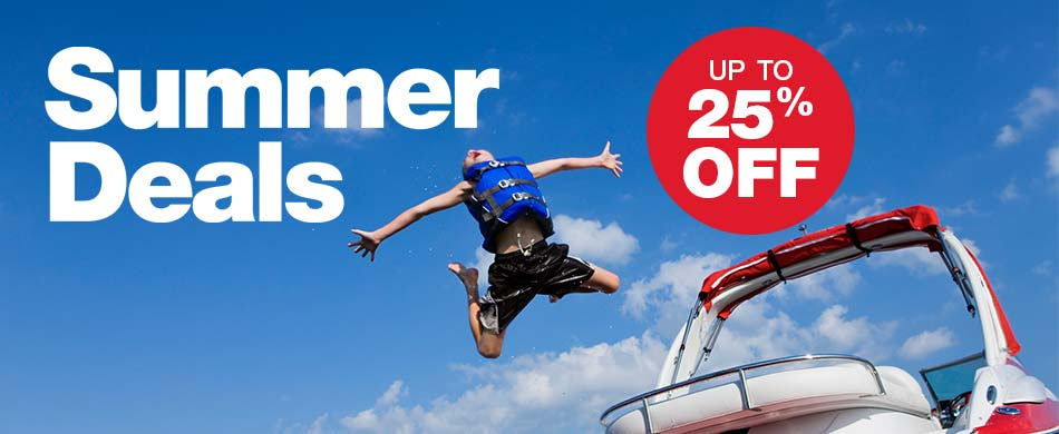 Summer Deals - Up to 25% off