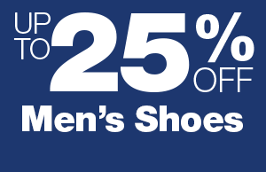 Up to 25% Off Men's Shoes