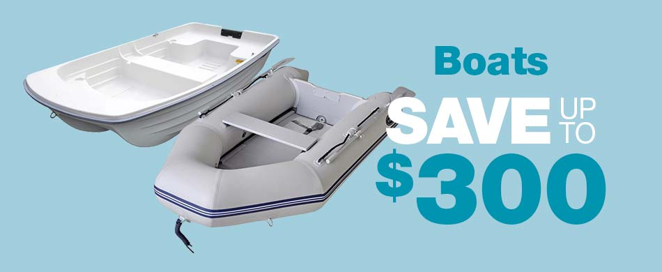 Save up to $300 on Boats
