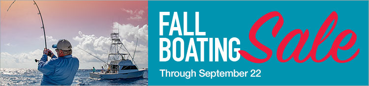 Fall Boating Sale Through September 22