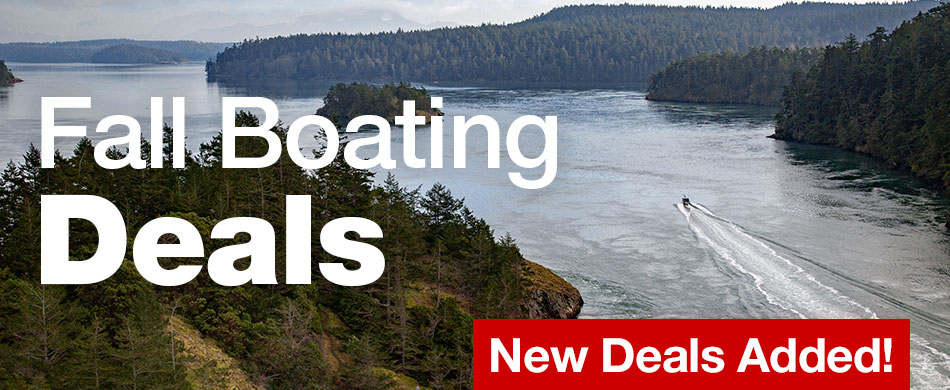 Fall Boating Deals. New Deals Added!
