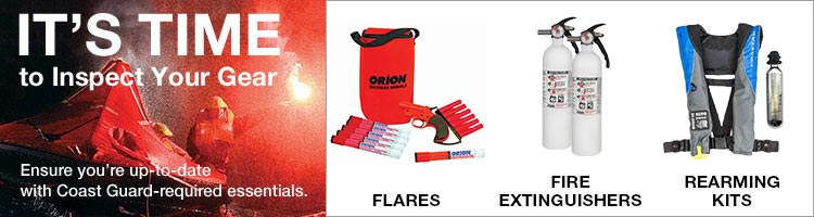 It's Time to Inspect Your Gear. Ensure you're up-to-date with Coast Guard-required essentials: Flares, Fire Extinguishers, Rearming kits