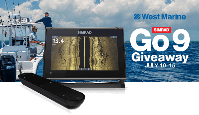 Simrad GO9 Giveaway, July 10 through 15.