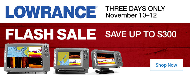 Save up to $300 on Lowrance Fishfinders
