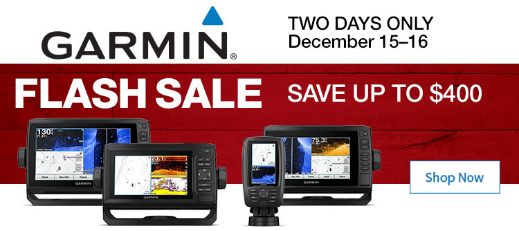 Save up to $400 on Garmin EchoMap Fishfinder/Chartplotter