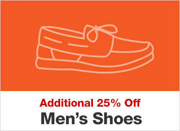 Additional 25% Off Men's Shoes