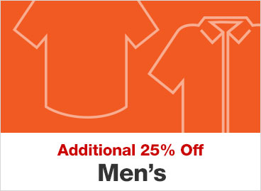 Additional 25% Off Men's