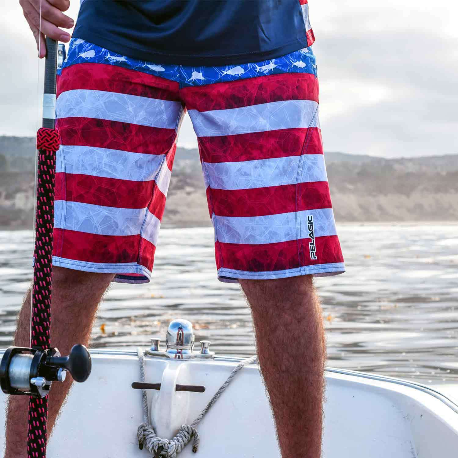 56d0f248bc Men's SHARKSKIN™ Americamo Board Shorts Enlarged view of picture, opens  dialog