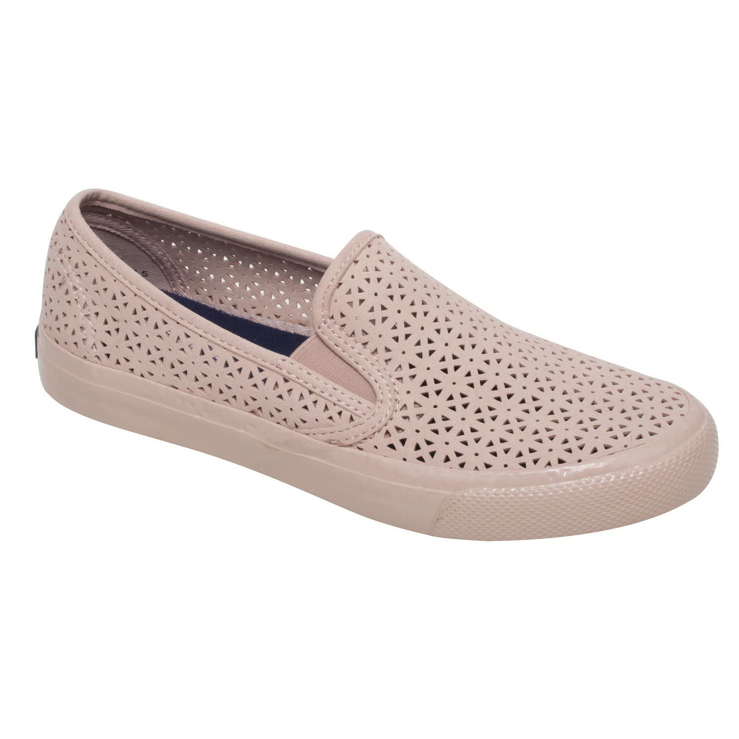 slip on perforated sneakers