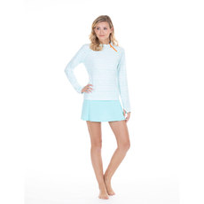 c3ec6cf5288 CABANA LIFE Women s Aqua Essentials Zipper Rash Guard