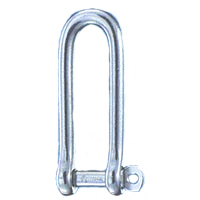 Stainless Long D Shackles with Captive Self-Locking Pin