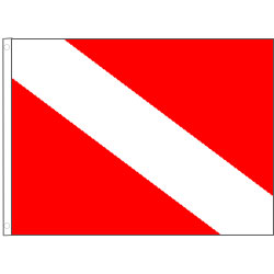 Taylor Made Diver Down Flag P010118842 on electrical outlet symbol