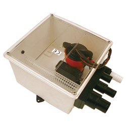 Multiple Port Shower Sump Pump System, 12V