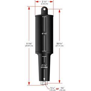 "Replacement 101XD Actuator - 12 Volt - 5/16"" Hardware"