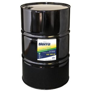 10W-30 4 Stroke Marine Outboard Engine Oil, 55 Gal.