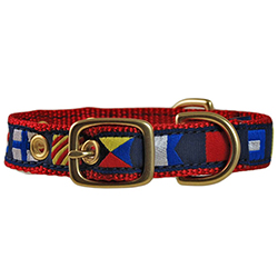 Code Flag Embroidered Dog Collar