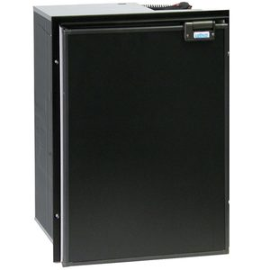CR-130 Drink Classic, Left Swing, Black Door & Panel, 3-Sided Black Flange, DC Only