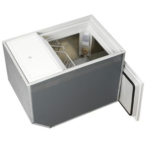 BI-53 Build-In Deep Freezer or Fridge, AC/DC, Stainless Steel Interior, Air Cooled, Remote Compressor, 1.87 cu. ft.