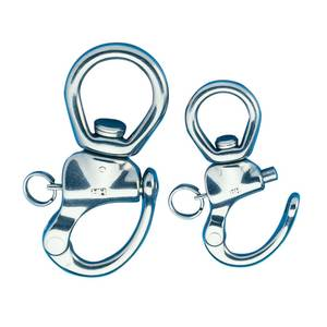 "4 1/8"" L Stainless Steel Large Swivel Bail Shackle"