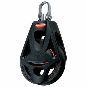 Series 55 Orbit BB Single Block with Becket, Swivel Mount