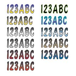 "3"" Boat Letter/Number Kits, Series 200"