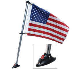 "U.S. Flag and Flat Surface Mount 24"" 12 x 18 US"