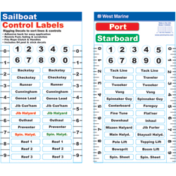Sailboat Control Labels