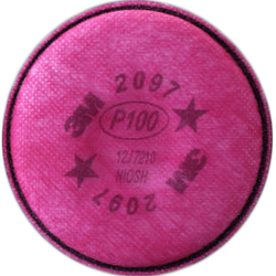 Particulate Filter 2097, P100, with Nuisance Level Organic Vapor Relief, 50-Pack