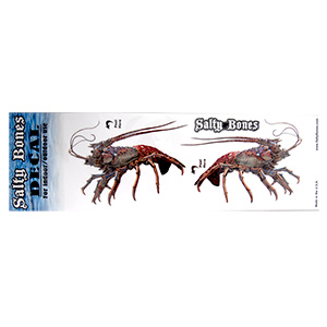 Lobster Salty Bones Decal, Two Pack