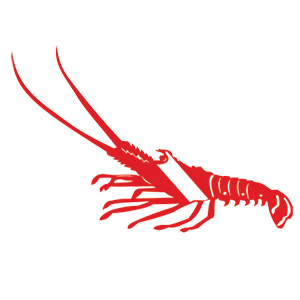 Lobster Dive Flag Decal