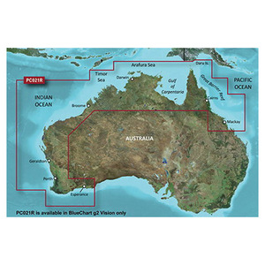 Blue Chart g2 Vision VPC021R Mackay NW to Esperance with MicroSD/SD Card