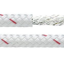 White Sta-Set Polyester Yacht Braid, Sold by the Foot