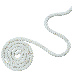 Premium White Three-Strand Nylon Line (Per Foot)