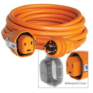 50' Dual Configuration Cordset, 30A, Orange