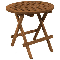 Seateak Round Folding Deck Table West Marine